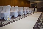 Ceremony Aisle Carpet/Runner with Aisle Lanterns & Rose Petals