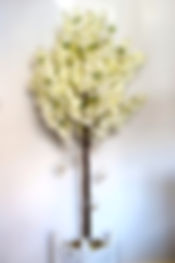 Ivory Blossom Tree with Glass Baubles di