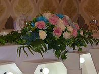 Long and Low Floral Display for Ceremony and Top Table Display