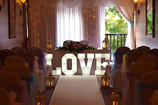 Hire 2ft Light up Love Letter Lights set up at the Derby Arms, Treales, Preston