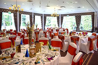 Venue Dressing Package set up at Kilhey Court, Wigan