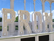 Hire 4ft Light up Prom Led Letter Lights set up at the Isla Gladstone Conservatory, Liverpool