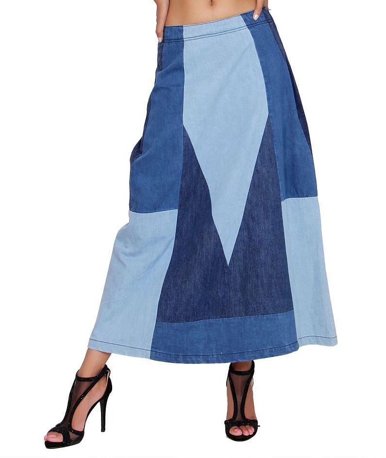 Multi Shade Long Skirt