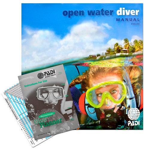 PADI Open Water Diver Manual & RDP Table