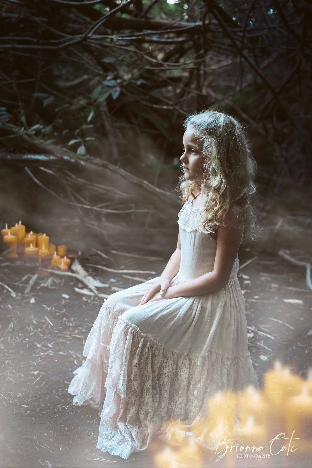Halloween Inspired Photoshoot, Composit, Photography, Child Model, White Witch
