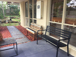 Our outdoor waiting area