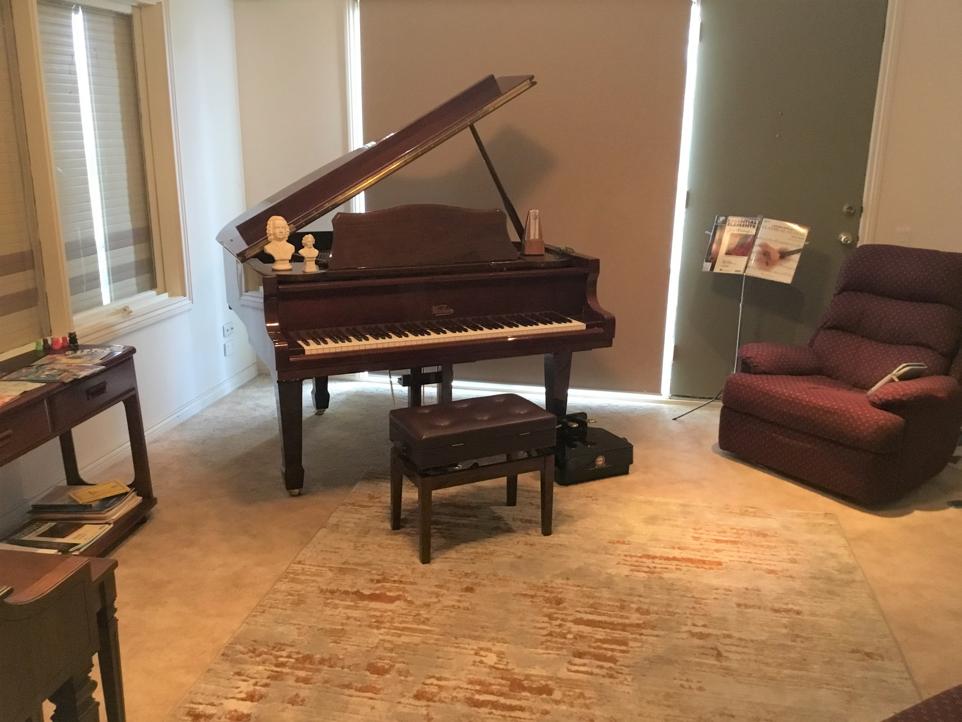 Our beautiful Wertheim piano