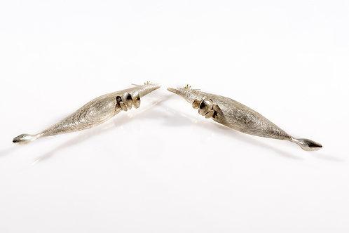 Silver Mushroom Earrings