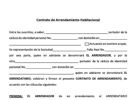 Residential Leasing Contract - SPANISH version