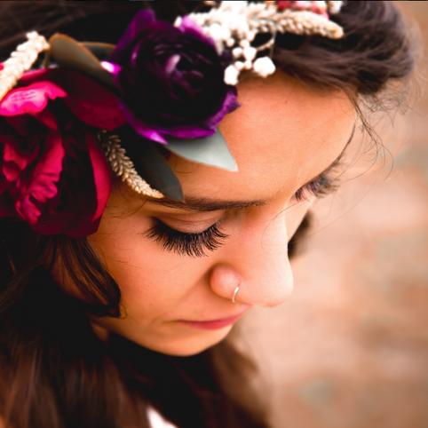 A+A Wedding Floral Crown