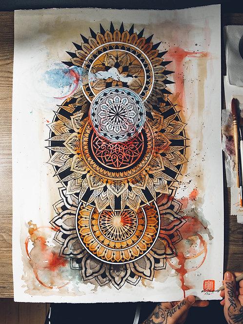 """""""Lockdown Mandala"""" original artwork 2020"""