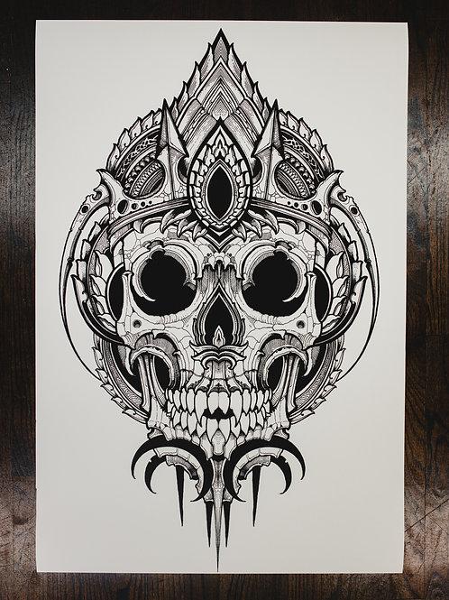 """""""Skull Omega"""" fine art print"""