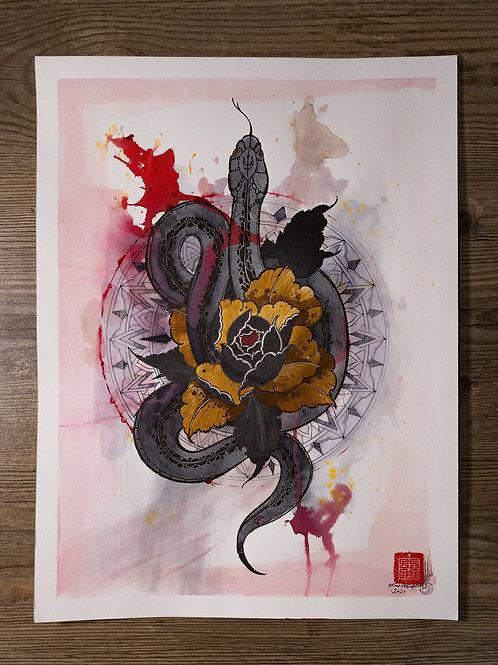 """""""Snake 21"""" original artwork 2021"""