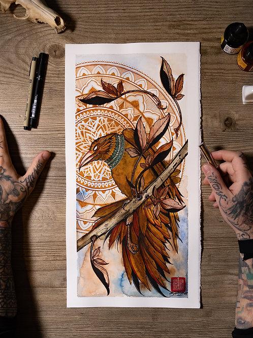 """Raven 21"" original artwork 2021"