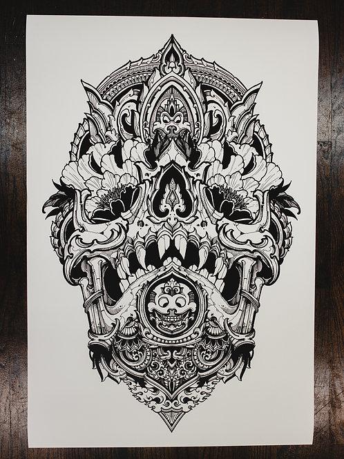 """Skull Alpha"" fine art print"