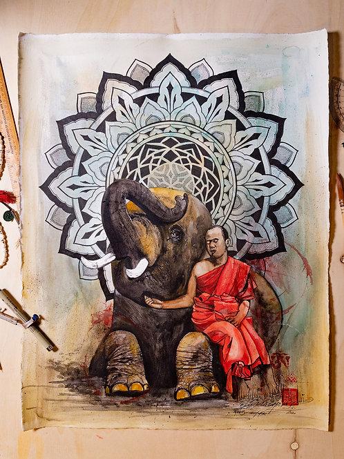 """""""Elephant"""" original artwork 2020"""