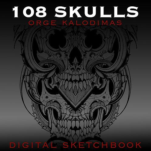 """108 SKULLS"" digital sketchbook"