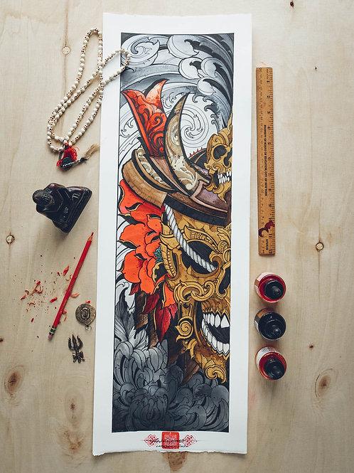"""""""Tibetan Skull"""" original artwork 2020"""
