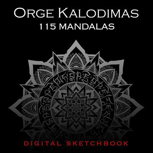 """115 Mandalas"" digital sketchbook"