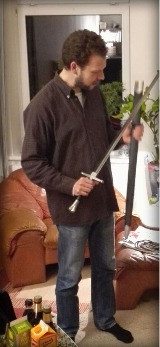 Mann mit Schwert