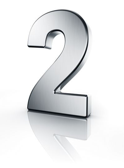Zwei Zahl 3D