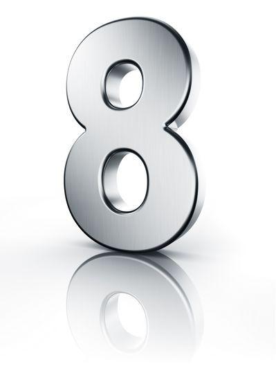 Acht Zahl 3D