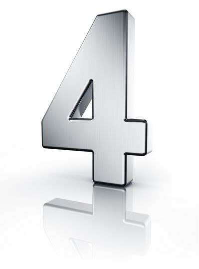 Vier Zahl 3D