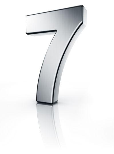 Sieben Zahl 3D