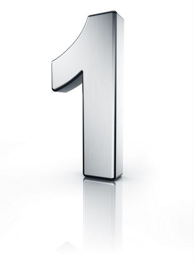 Eins Zahl 3D