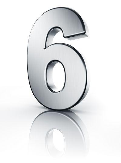 Sechs Zahl 3D