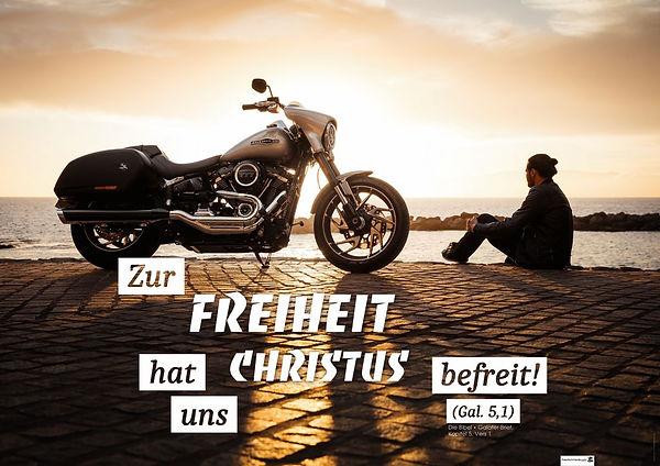 christliches Poster Plakat Freiheit Galater Jesus