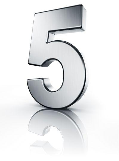 Fünf Zahl 3D