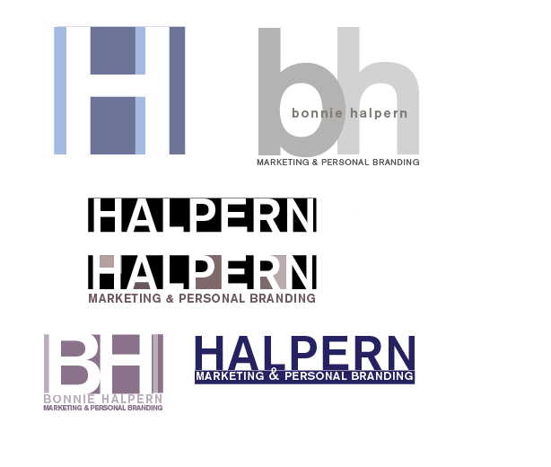 Bonnie Halpern Initial Logo Design Concepts