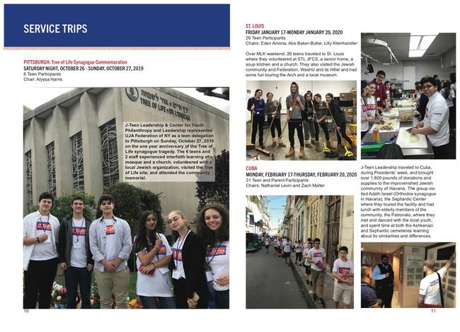 J-Teen Leadership Year-End Report Inside Spread