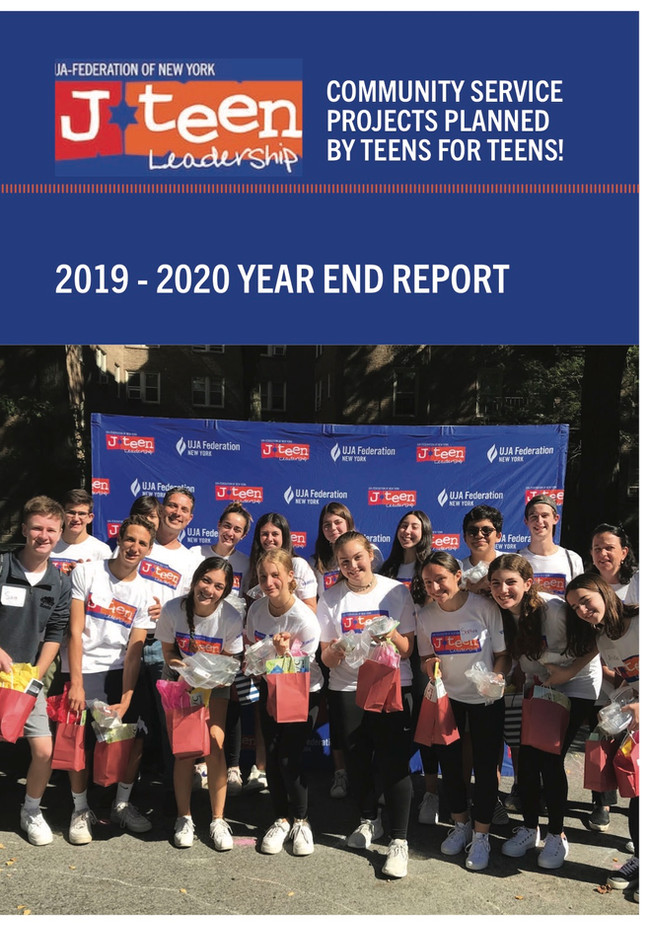 J-Teen Leadership Year-End Report Cover