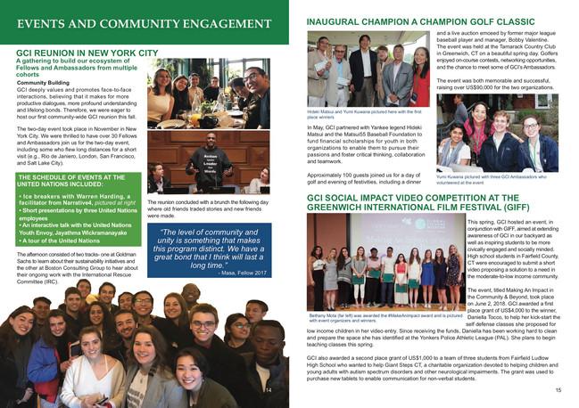 Global Citizens Initiative Annual Report Inside Spread