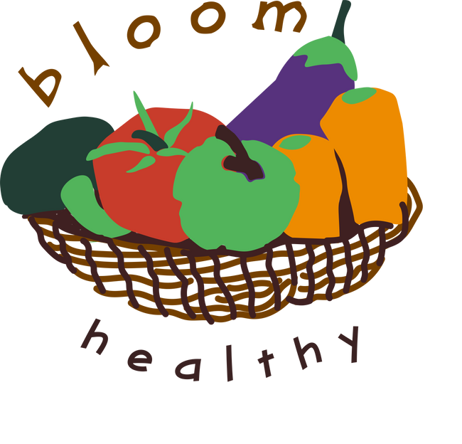 Bloom Healthy Logo Concept With Type Manipulation