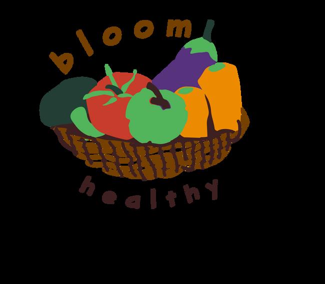 Bloom Healthy Logo Concept Mock-Up