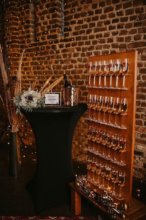Sektwand / Champagnerwall