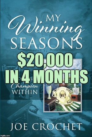 We just hit $20,000 in sales for My Winning Seasons!!!
