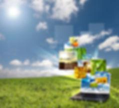 Laptop Cloud Concept