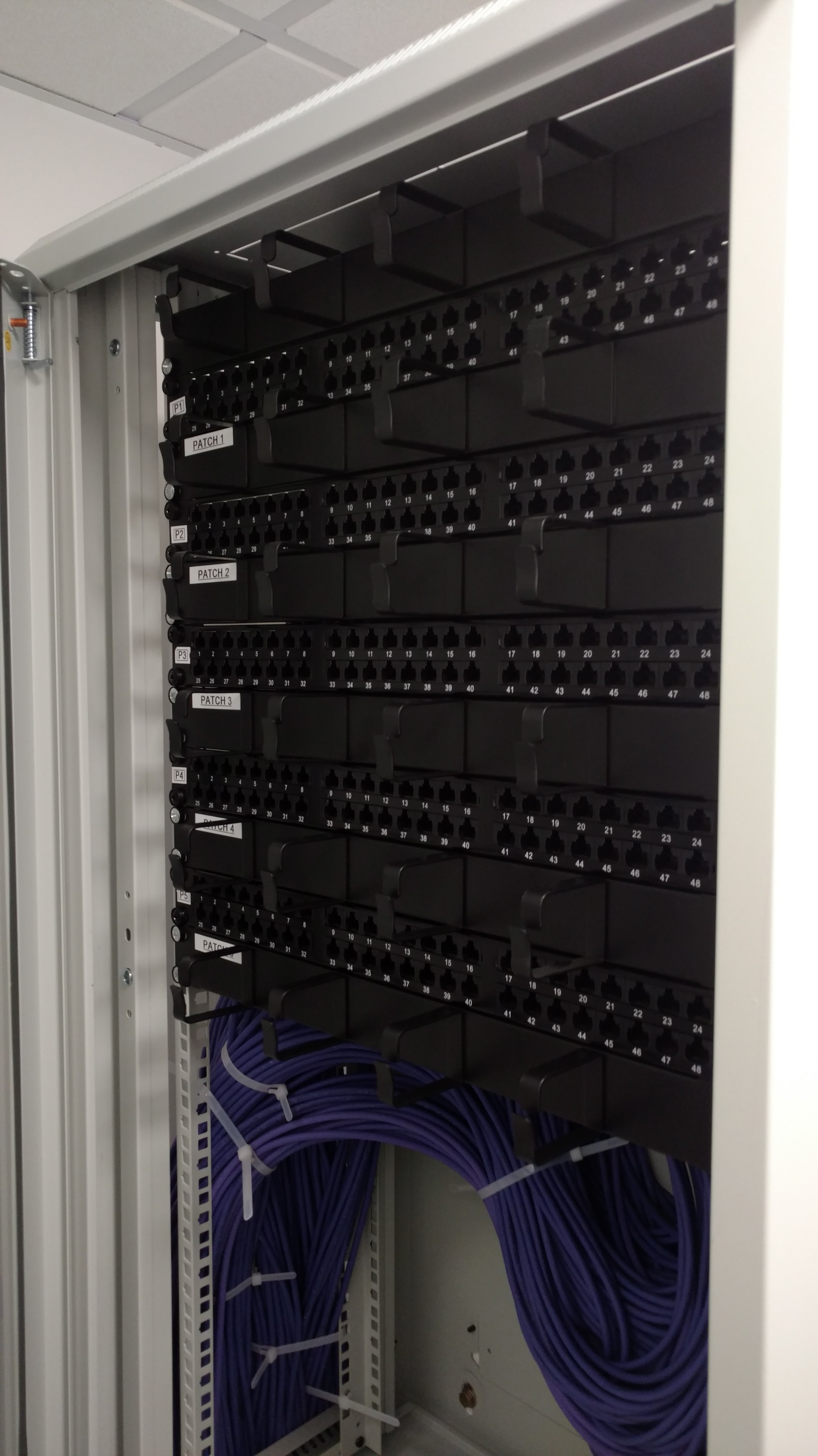 Network Patch Panel Installation
