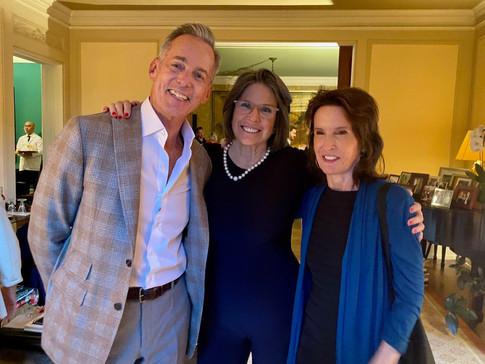 David Kleinberg, Paige Peterson and Katrina Vanden Heuvel