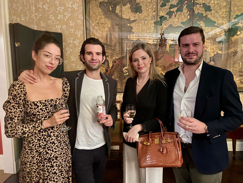 Emily Cercone, Peter Cary Peterson, Michela and Stefano Minoli