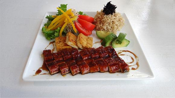 Grilled Eel and Tofu Salad Bowl