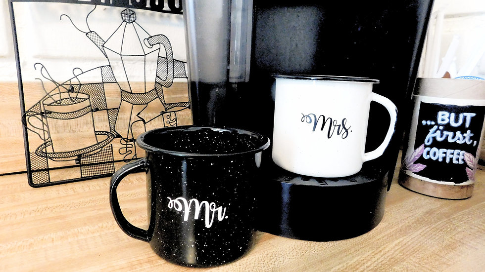 Mr & Mrs Black and White Mugs