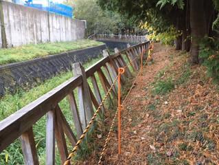 準用河川うらうちない川ほか1河川防護柵設置工事