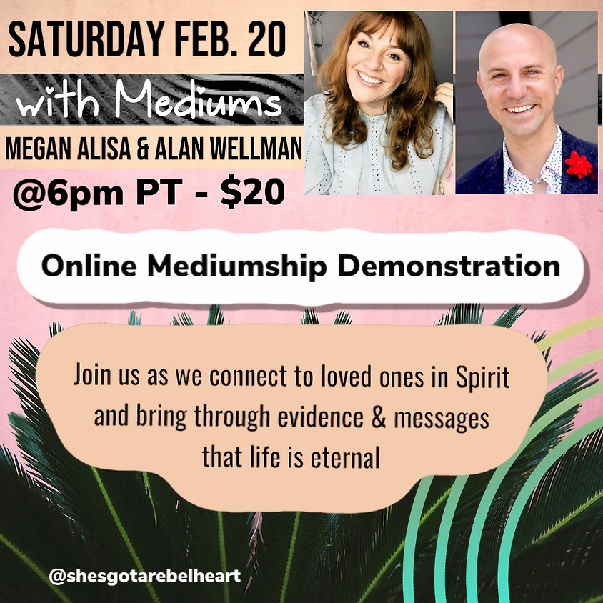 Mediumship Demonstration with Megan Alisa & Alan Wellman