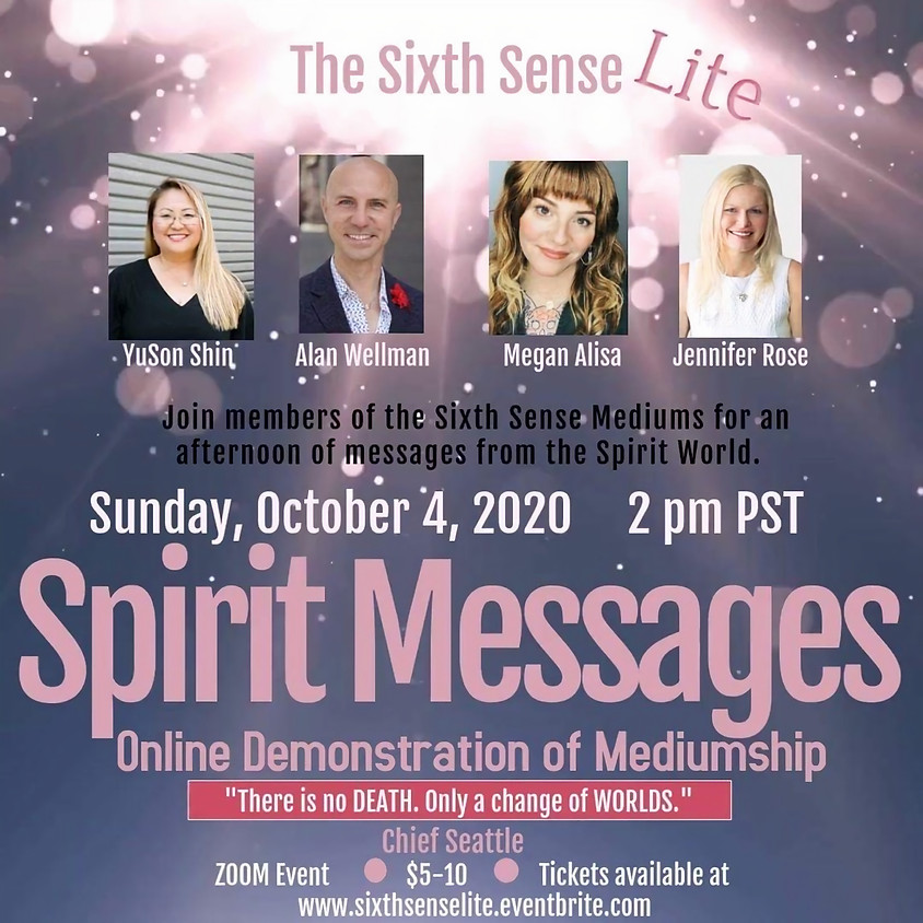 Charity Online Event: Afternoon of Spirit Messages with the Sixth Sense