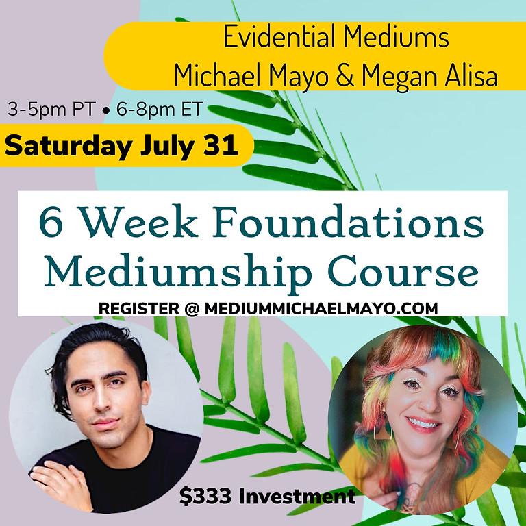 6 Week Mediumship Foundations Class for Beginner-Intermediate